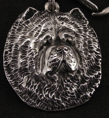 Chow Chow Silver Plated Key Chain
