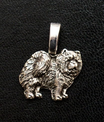 Chow Chow Silver Plated Mini Charm