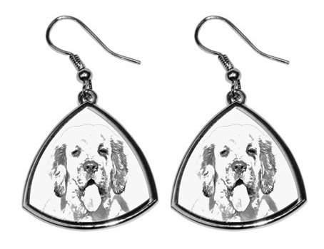 Clumber Spaniel Silver Plated Earrings