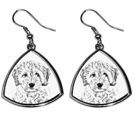 Cockapoo Silver Plated Earrings