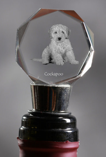 Cockapoo Crystal Wine Stopper