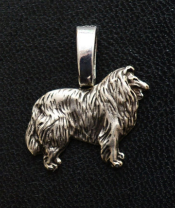 Collie Silver Plated Mini Charm