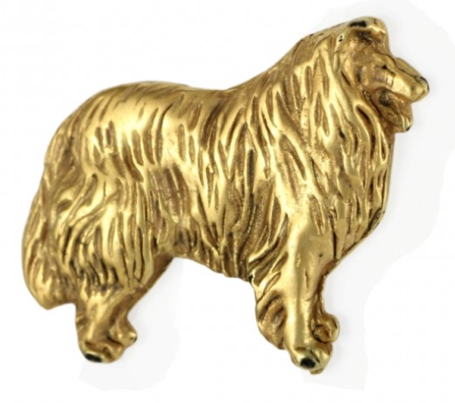 Collie Hard Gold Plated Lapel Pin