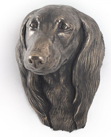 Dachshund Long Coat Wall Hung Statue