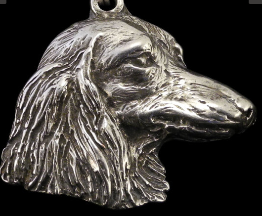 Dachshund Long Coat Silver Plated Pendant