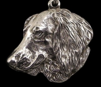 Dachshund Long Coat Silver Plated Key Chain