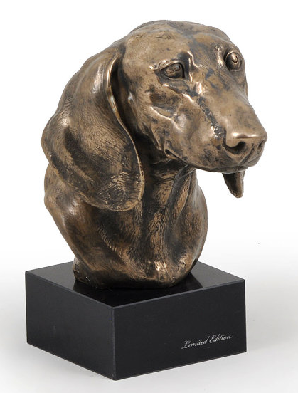 Dachshund Smooth Coat Statue on a Marble Base