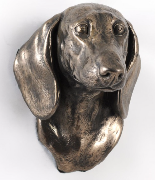 Dachshund Smooth Coat Wall Hung Statue