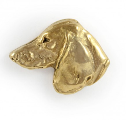Dachshund Hard Gold Plated Lapel Pin