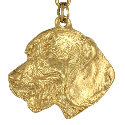 Dachshund Wire Coat Hard Gold Plated Pendant