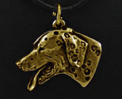 Dalmatian Hard Gold Plated Key Chain