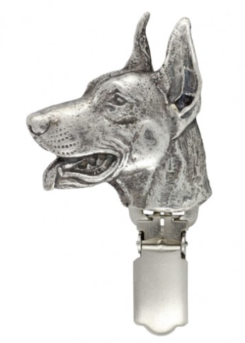 Doberman Silver Plated Show Clip