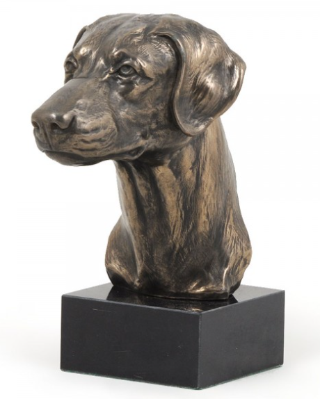 Doberman Statue on a Marble Base
