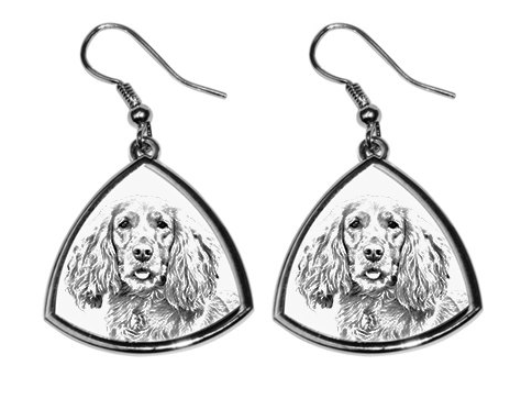 Cocker Spaniel Silver Plated Earrings