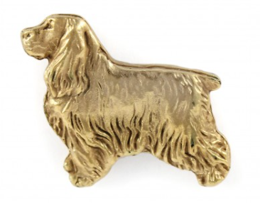 Cocker Spaniel Hard Gold Plated Lapel Pin