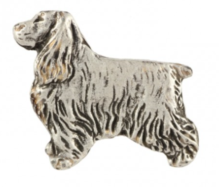 Cocker Spaniel Silver Plated Lapel Pin