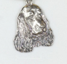 Cocker Spaniel English Silver Plated Pendant