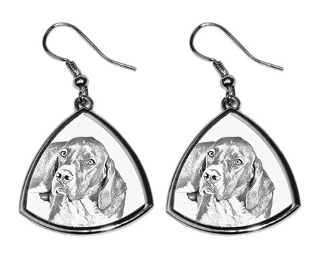 English Pointer Silver Plated Earrings