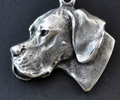 English Pointer Silver Plated Pendant