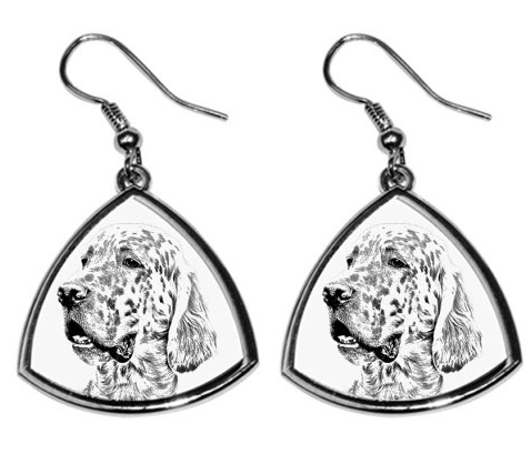 English Setter Silver Plated Earrings
