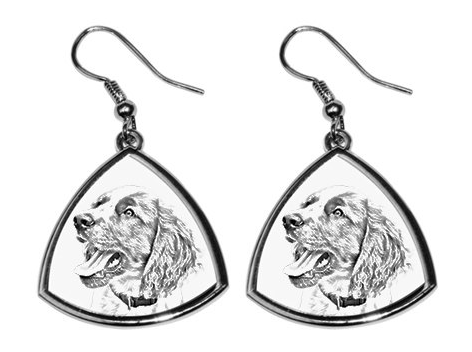 English Springer Spaniel Silver Plated Earrings