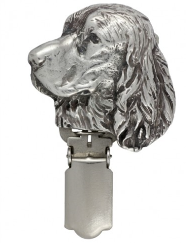 English Springer Spaniel Silver Plated Show Clip