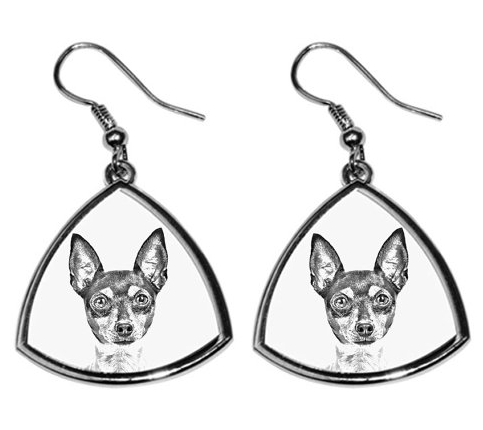 Fox Terrier Toy Silver Plated Earrings