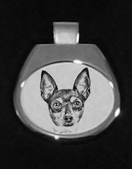 Fox Terrier Toy Silver Plated Pendant