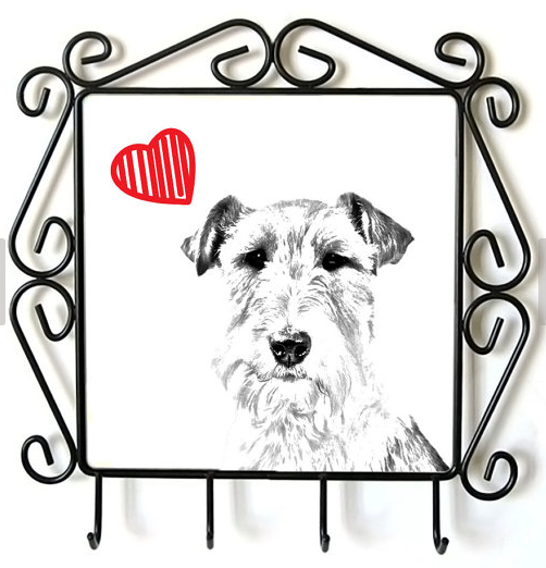 Fox Terrier Wire Coat Lead Hanger