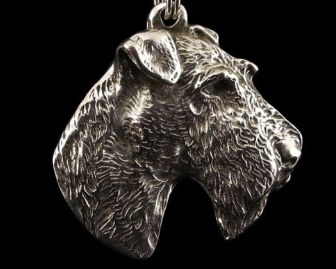 Fox Terrier Silver Plated Pendant