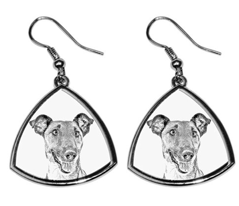 Fox Terrier Smooth Coat Silver Plated Earrings