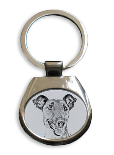 Fox Terrier Smooth Coat White Key Ring