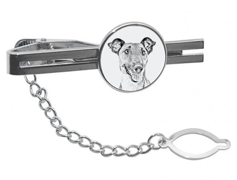 Fox Terrier Silver Plated White Tie Pin