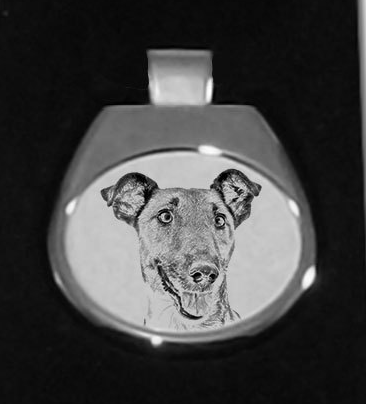 Fox Terrier Smooth Coat Silver Plated Pendant