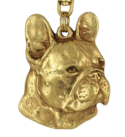 French Bulldog Hard Gold Plated Key Chain