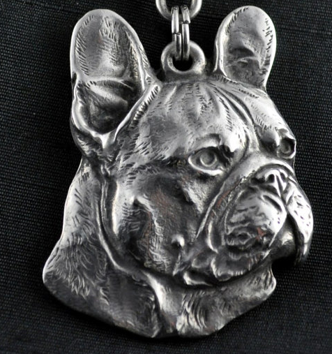 French Bulldog Silver Plated Key Chain