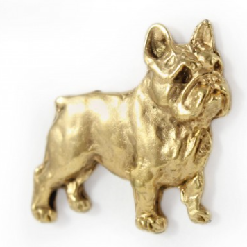 French Bulldog Hard Gold Plated Lapel Pin