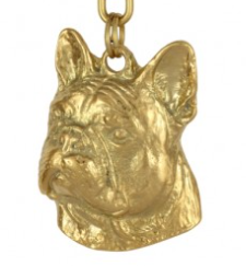 French Bulldog Hard Gold  Plated Pendant