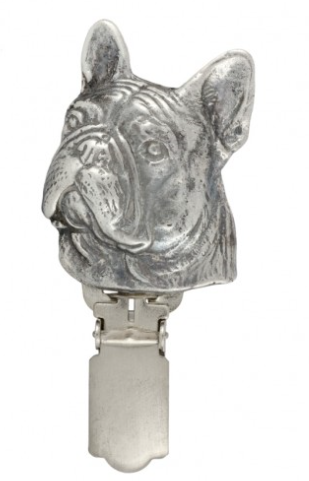 French Bulldog Silver Plated Show Clip