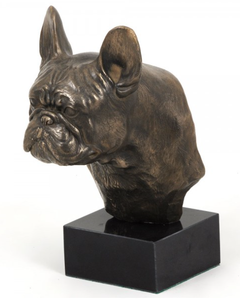 French Bulldog Staue on a Marble Base