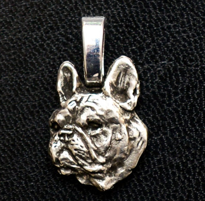 French Bulldog Silver Plated mini Charm