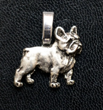 French Bulldog Small Silver Plated Full Body Mini Charm