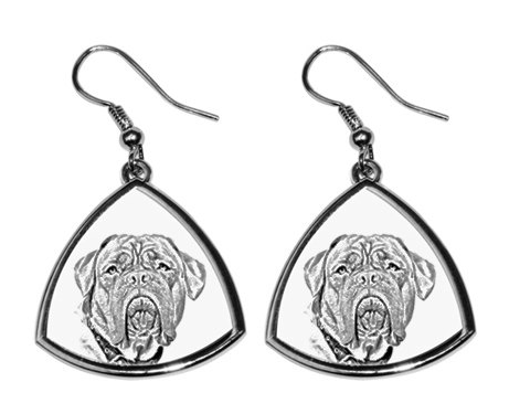 French Mastiff Silver Plated Earrings