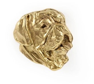 French Mastiff Hard Gold Plated Lapel Pin