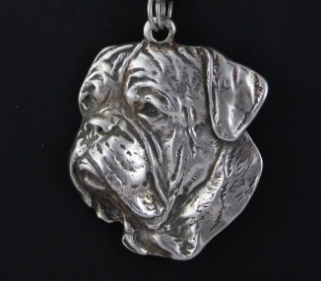 French Mastiff Silver Plated Key Chain