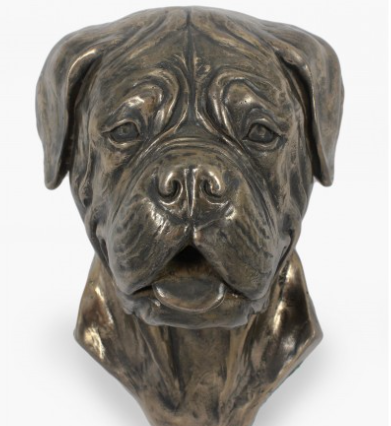 French Mastiff Wall Hung Statue
