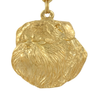 Brussles Griffon Hard Gold Plated Pendant