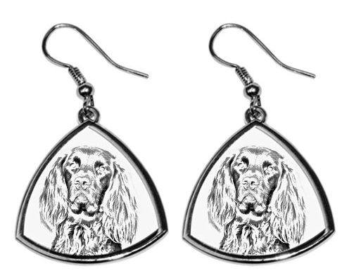 German Longhaired Pointer Silver Plated Earrings