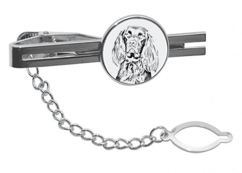 German Longhaired Pointer Silver Plated Tie Pin