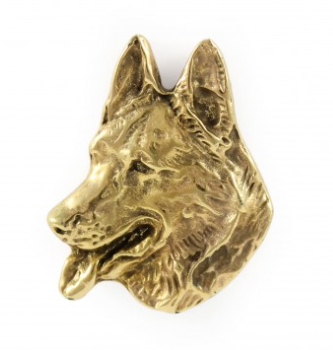 German Shepherd Hard Gold Plated Lapel Pin